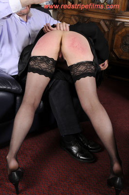 Mature wife over the knee spanking